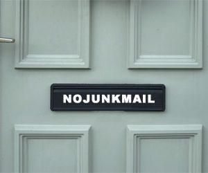 Vinyl no junk mail